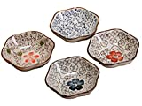 Longpro Set Of 4 Asian Style Sauce Dishes Plate Soy Japanese Chinese Rice Bowl Dishes Sauce Dish Cream Soup Bowl And Saucer