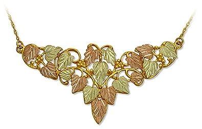 hills necklace Black gold