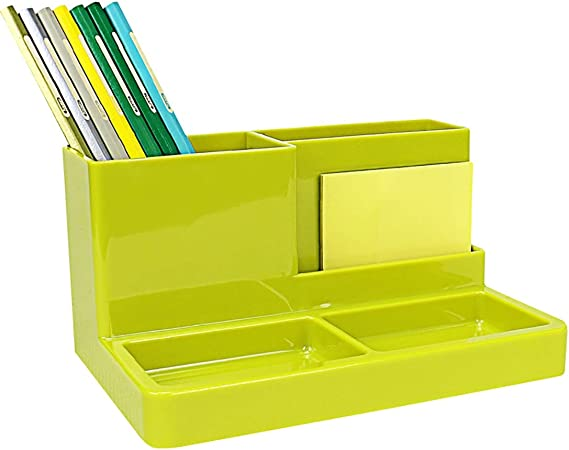 Organizador de Escritorio, Organizador de Escritor Organizador de escritorio, mesa de Tela Plataforma de Suministros de Oficina - Papelería Organizador - Caja grande for bolígrafos, Notas Adhesivas y: Amazon.es: Hogar