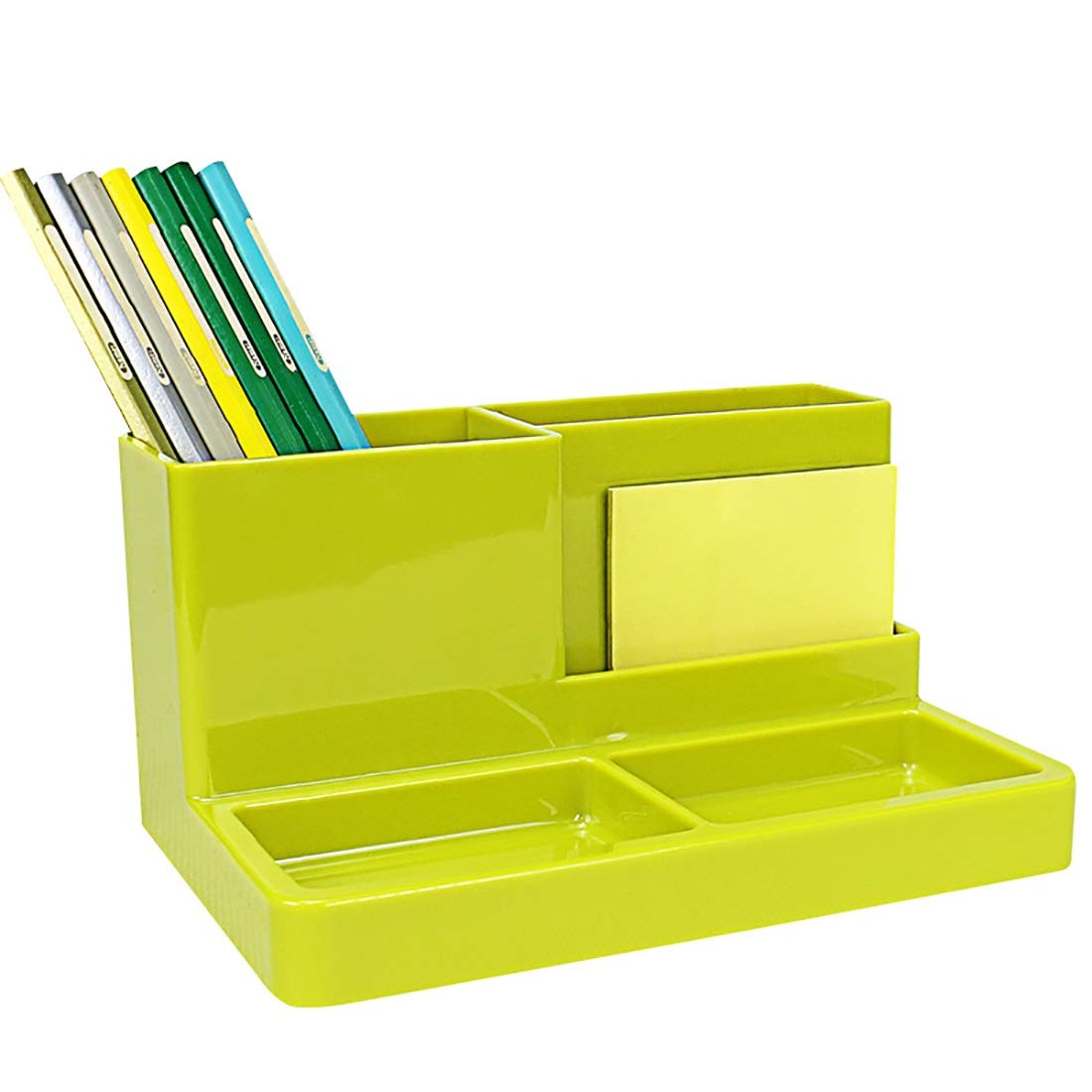 YCYG File Shelf Wooden - File Holder Racks, File Organi Desk Organiser, Fabric Desk Shelf for Office Supplies - Stationery Organiser - Large Box for Pens, Sticky Notes and Paper Clips (Color : Brown) by YCYG