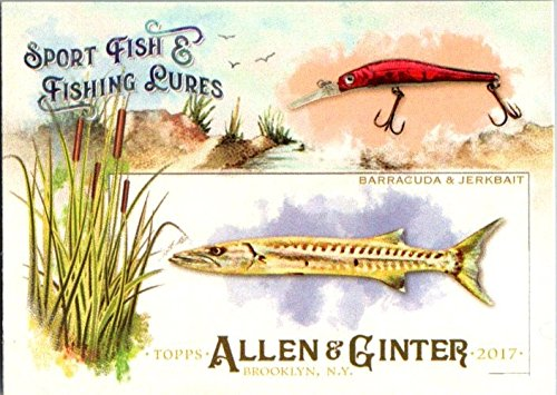 2017 Topps Allen and Ginter Sport Fish and Fishing Lures #SFL19 Barracuda (Lure Primo)