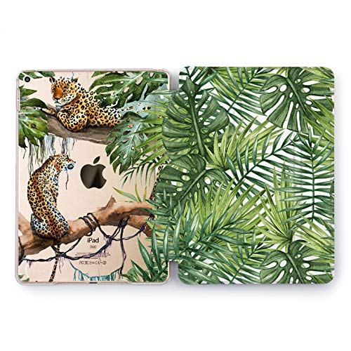 Wonder Wild Tropical Cheetah Apple iPad Pro Case 9.7 11 inch Mini 1 2 3 4 Air 2 10.5 12.9 2018 2017 Design 5th 6th Gen Clear Smart Hard Cover Animals Nature Hunters Forest Greenery Cats Leopard Top]()