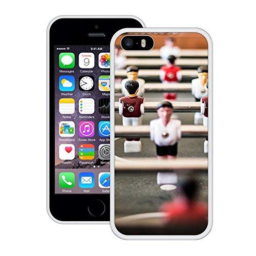 Tischfussball | Handgefertigt | iPhone 5 5s SE | Weiß Hülle