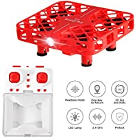 Mini Quadcopter Drone, Mesh Protective Frame 3D Flip Headless Mode RC Quadcopter RTF Drones for Kids Toys