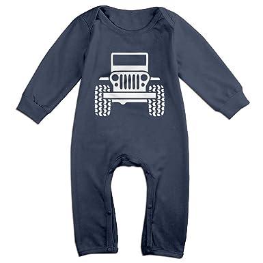 be8060d7ad Amazon.com  Jeep Logo Baby Onesie Romper Jumpsuit Bodysuits  Clothing