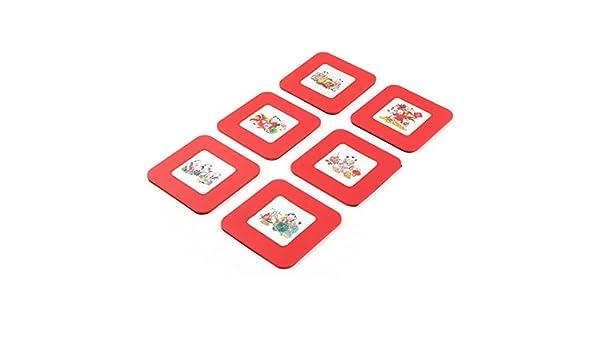 Amazon.com: eDealMax Plaza de plástico en forma de caso w Red de Hogares taza de café Calor Mat Resistente 6pcs: Kitchen & Dining