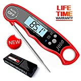 Digital Instant Read Meat Thermometer - Waterproof Kitchen Food Cooking Thermometer Super Fast BBQ Thermometer with Calibration and Backlit Function for Food, Candy, Milk, Tea, BBQ, Grill Smokers