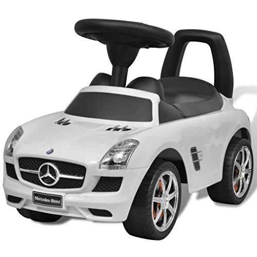 Vidaxl Coche Correpasillos Ninos Blanco Auto Vehiculo Infantil