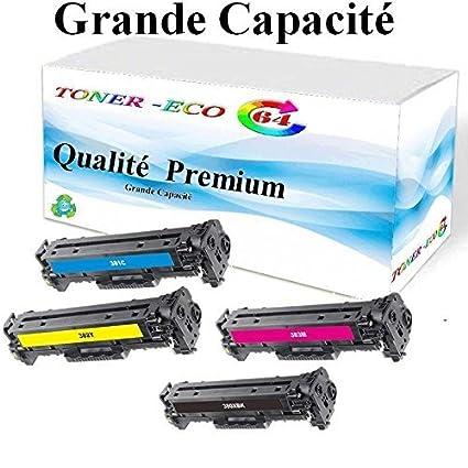 Gran capacidad de 4 cartuchos de tóner para impresora HP LaserJet ...