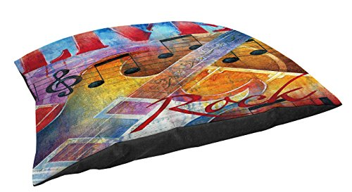 Manual Woodworkers & Weavers Indoor/Outdoor Large Breed Pet Bed, Live to Rock, Multi Colored