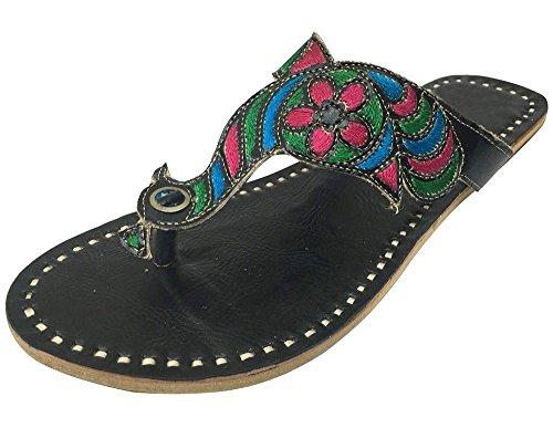 pour Style Noir Tongs noir n femme Step qtg8HnS