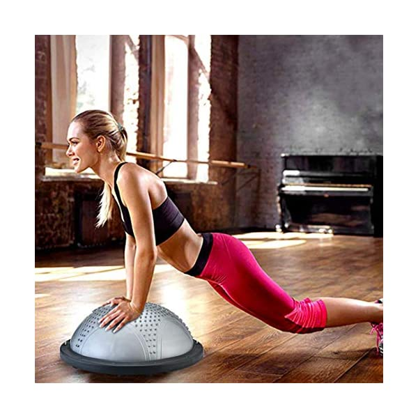 NORDERBRØ - Balance Ball, Palla Fitness per Training PRO con Cinghie Laterali, Pilates, Stabilità, Allenamento… 5 spesavip