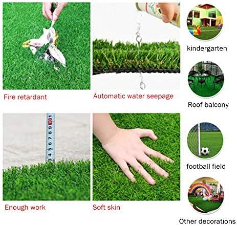 PING- 人工芝-屋外の緑高密度の偽の芝生犬の芝生ペット自然に現実的な庭贅沢20mmスタック高さ1m×2m-5m×2m 5サイズ (Color : 2×4m)