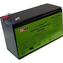 Battery: 12V 7AH Rechargeable Sealed