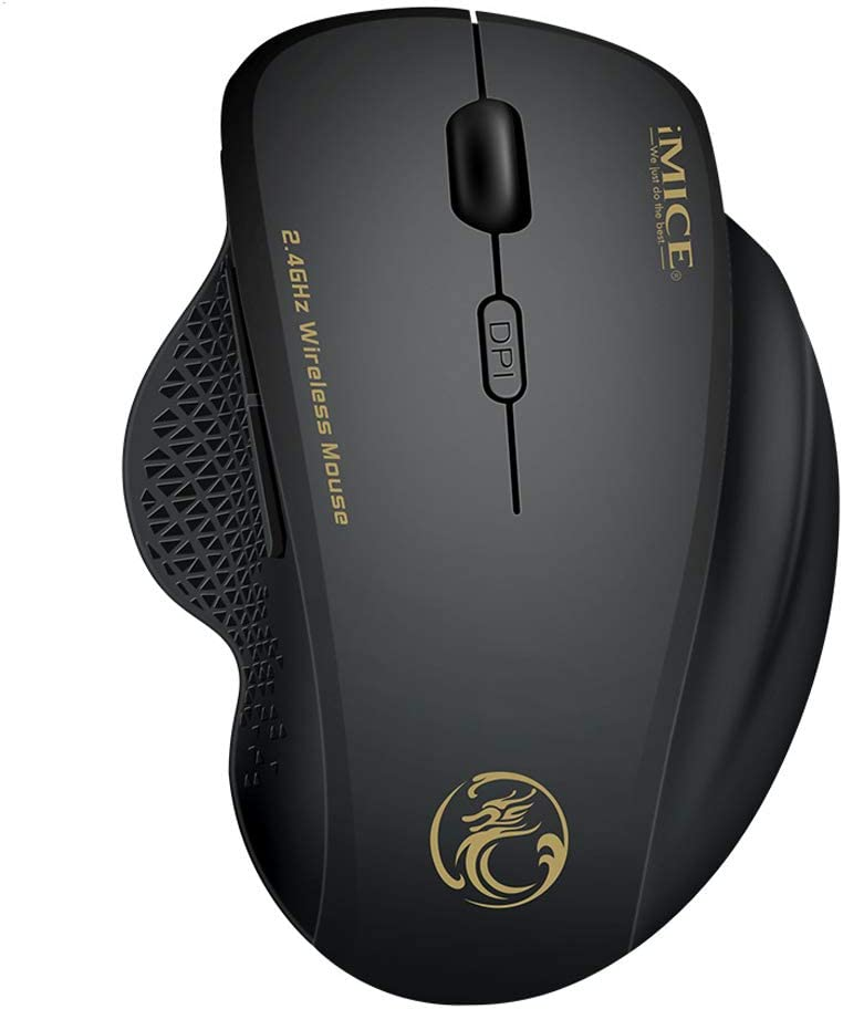 Vista HUIGE 2.4G USB Wireless Optical Gaming Mouse,6 Buttons,Receiver for Windows XP WIN7 Win10 WIN8