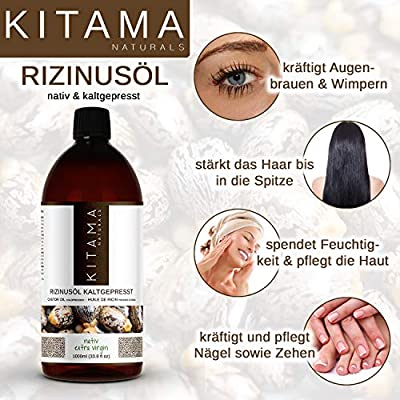 Kitama Aceite de ricino prensado en frío nativo 5000 ml (5 x ...