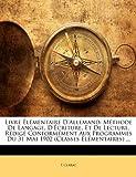 Livre Élémentaire D'Allemand, E Clarac, 1141123436