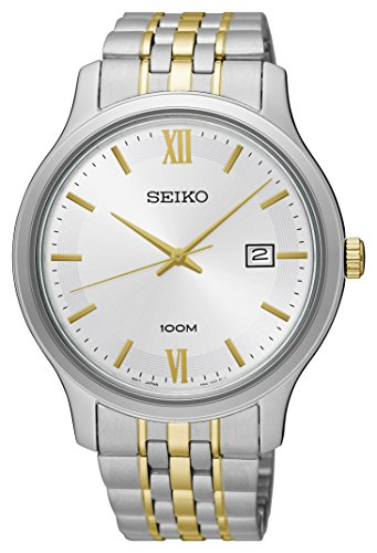 Seiko-Mens-Two-Tone-Special-Value-Stainless-Steel-Bracelet-Watch-SUR223