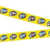 Fun Express Superhero Party Tape Decoration - 20 Feet