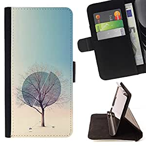 Momo Phone Case / Flip Funda de Cuero Case Cover - Invierno Esfera profundo Primavera Naturaleza - Samsung Galaxy J1 J100