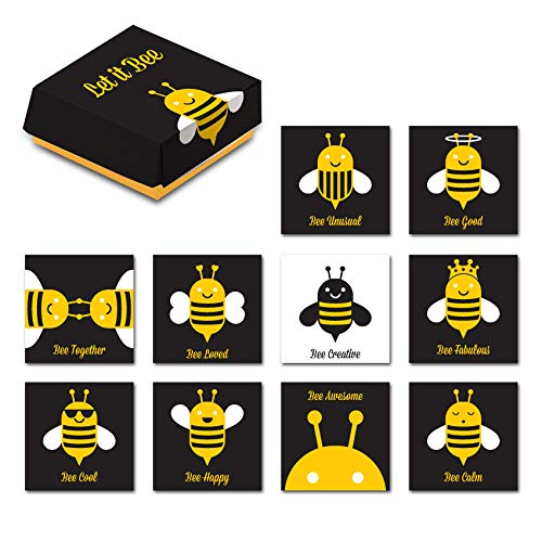 - Tsoomi Magnets Inspiring Bee Magnets: 10 Bee-Themed Home, Office, or Kitchen Refrigerator Magnets with Colorful Insect Designs and Fun, Special Messages