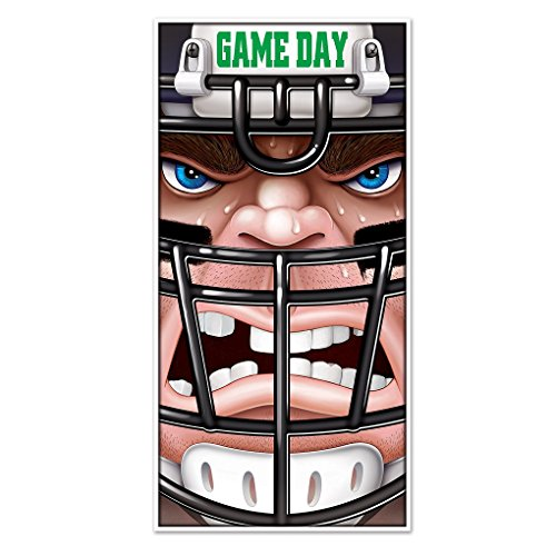 [Lightweight Plastic Football Player Game Day Door Cover 30
