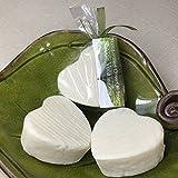 JANECKA Aloe Vera Heart Soap / Hand-milled Bath Bars / Gentle Unscented ( Set of 3 )