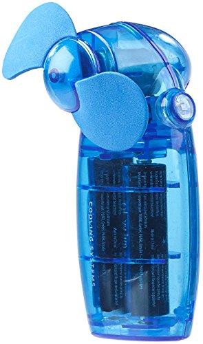 PEARL Batterie-betriebener Mini-Hand- und Taschen-Ventilator, blau