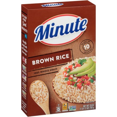 Minute Instant Whole Grain Brown Rice 28 oz. Box (Pack of 2)