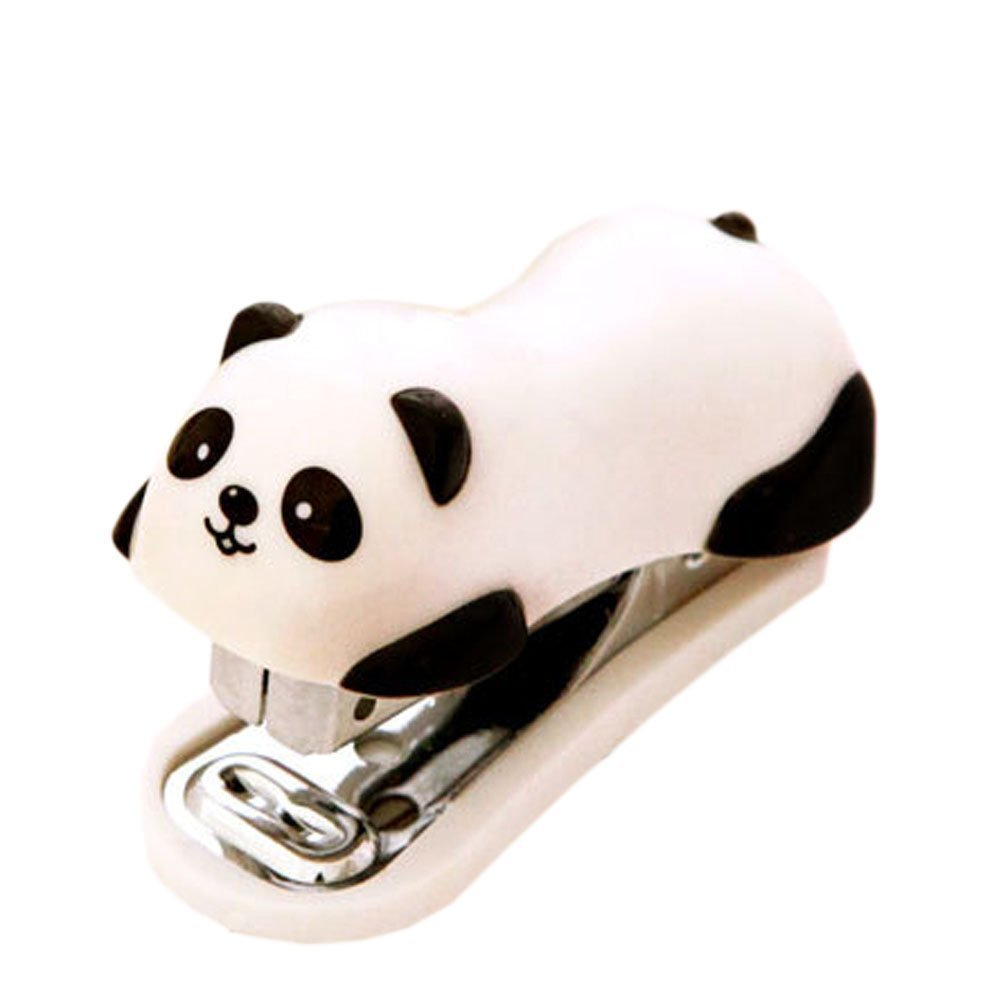 Cute Panda Mini Desktop Stapler Staple for Office School Home Travel and Best Cute Gift for Friends and Children LinTimes