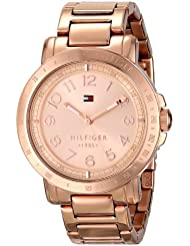 Tommy Hilfiger Womens 1781396 Rose Gold-Tone Watch