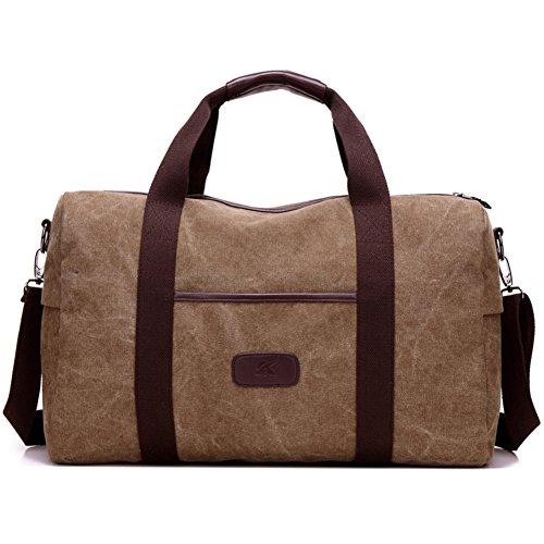 Bolsa de equipaje bolsa de hombre bolsa de lona bolsa hombre bolsa bandolera mochila bolso bolsa hombre versión-Gris marrón