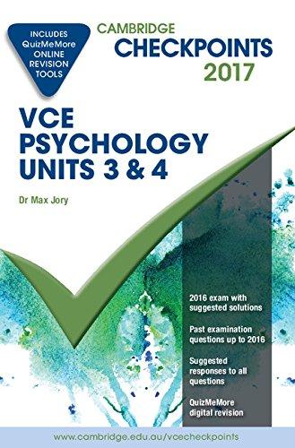 Read Online Cambridge Checkpoints VCE Psychology Units 3 and 4 2017 and Quiz Me More pdf epub