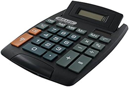Large Jumbo Calculator Big Button 8-Digit Desktop Math Display Solar Battery New