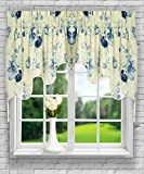 Ellis Curtain Sanctuary Rose 100-by-30 Inch Lined 2-Piece Duchess Valance, Cornflower