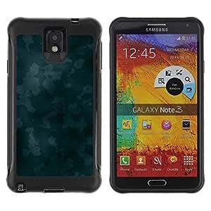 Suave TPU GEL Carcasa Funda Silicona Blando Estuche Caso de protección (para) Samsung Note 3 / CECELL Phone case / / Texture Blue Camoo /