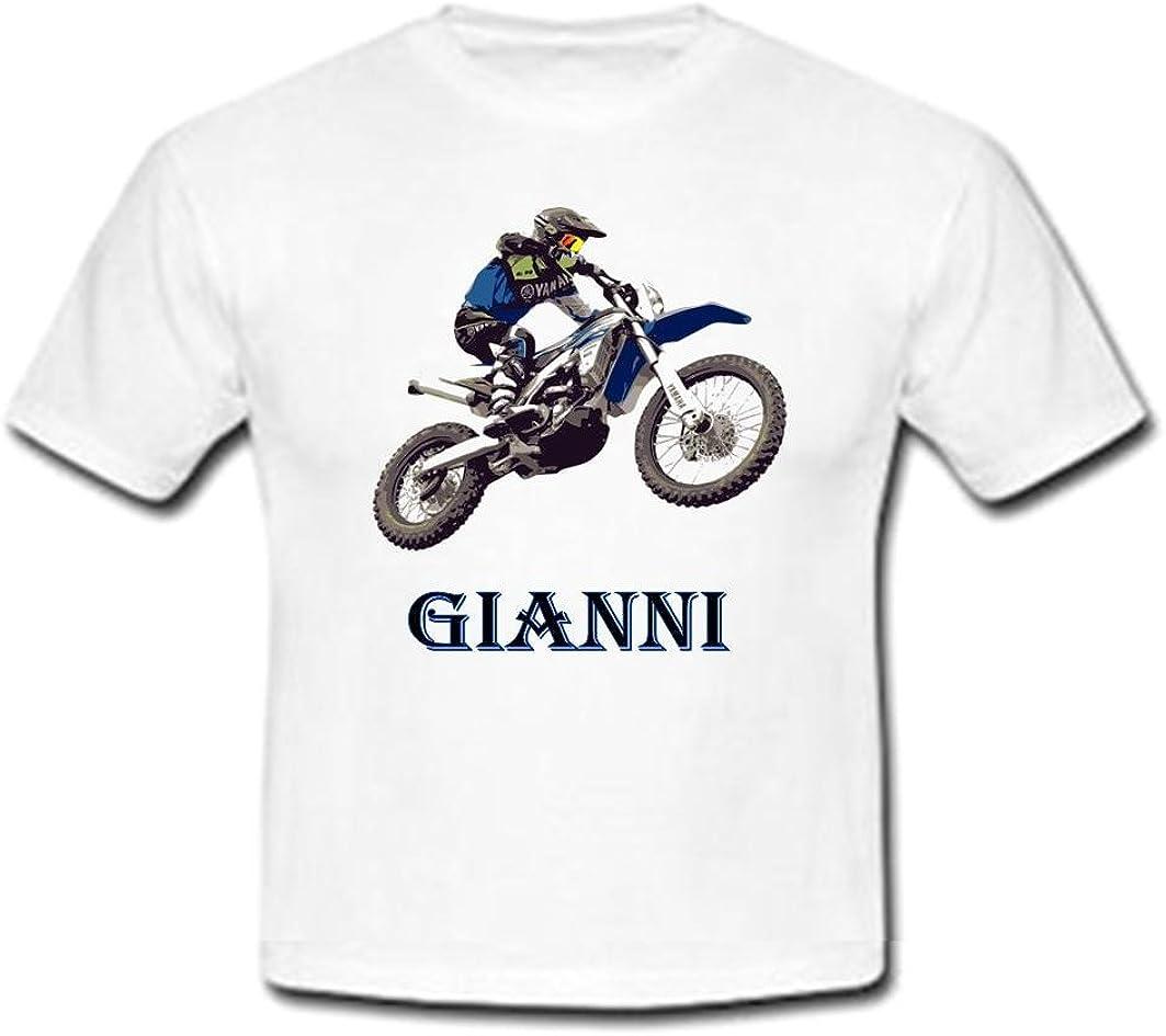 GRAVOPHOTO Tshirt personnalis/é Moto Cross Yam pr/énom et Taille au Choix