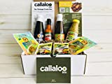 The Trinidad & Tobago Creole Box by Callaloo Box: Bertie's Pimento & Bertie's Pepper Sauces, Chief Browning, Creole & Cook Up Seasonings & Karibbean Flavours Coconut Milk Powder - Caribbean Food Box
