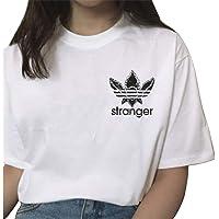 Camiseta Stranger Things Niña, Camiseta Stranger Things Mujer Impresión Manga T-Shirt Impresión Deporte Casual…