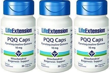 Life Extension PQQ Caps with PQQ 10 mg, 30 Vcaps (3 Pack)