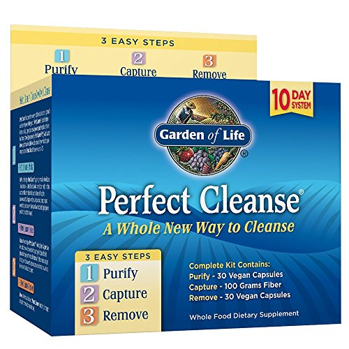 Garden of Life 10 Day Gentle Detox Pills - Perfect Cleanse Kit with Organic Fiber