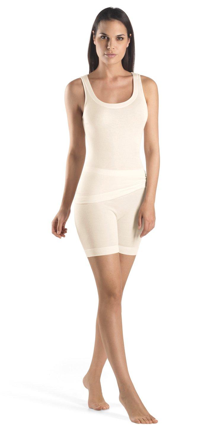 Hanro Women's Silk/Cashmere Tank Top 71653, Cygne, Large