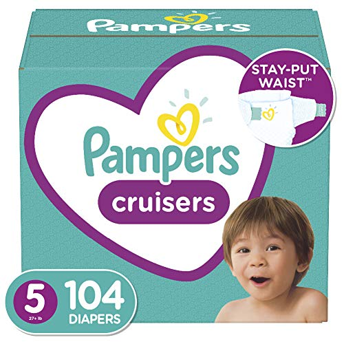 Diapers Size 5, 104 Count - Pampers Cruisers Disposable Baby Diapers, Enormous Pack