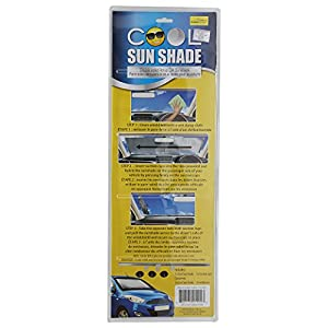 (2 Pack) Cool Sun Shade Retractable Reflective Window Windshield Heat Shield As Seen On TV