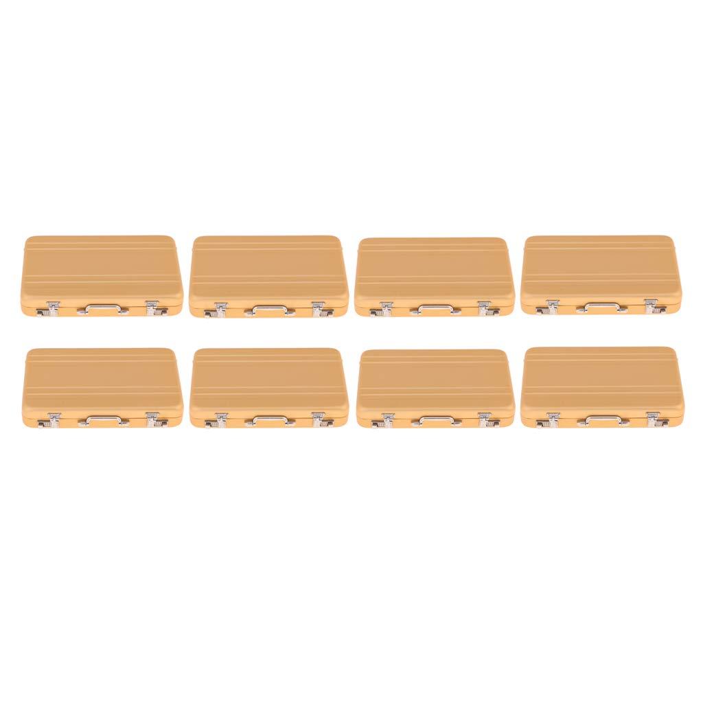 B Blesiya 8pcs Dollhouse Box Suitcase Mini Borsa per 1 12 Dolls Accs