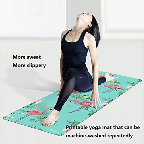 Ll Coeur Flamant Serviette De Yoga Pliable Tapis De Voyage Gym