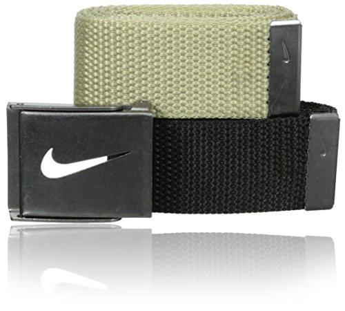 Nike Men's 2-In-1 Web Tin Solid, Khaki/Black, One Size