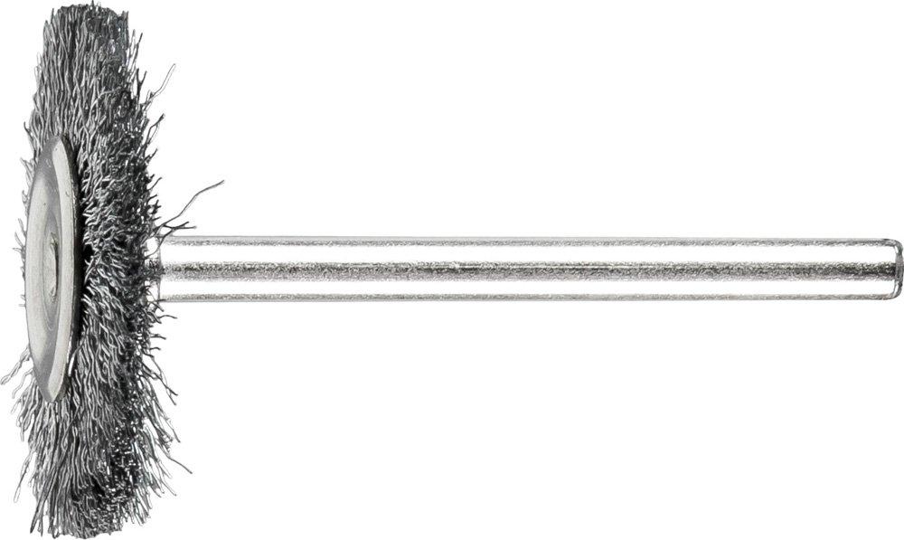 PFERD 83201 Stem Mounted Miniature Filament Wire Brush, Carbon Steel Wire, 3/4'' Diameter, 1/16'' Wire Diameter, 25000 RPM (Pack of 36)