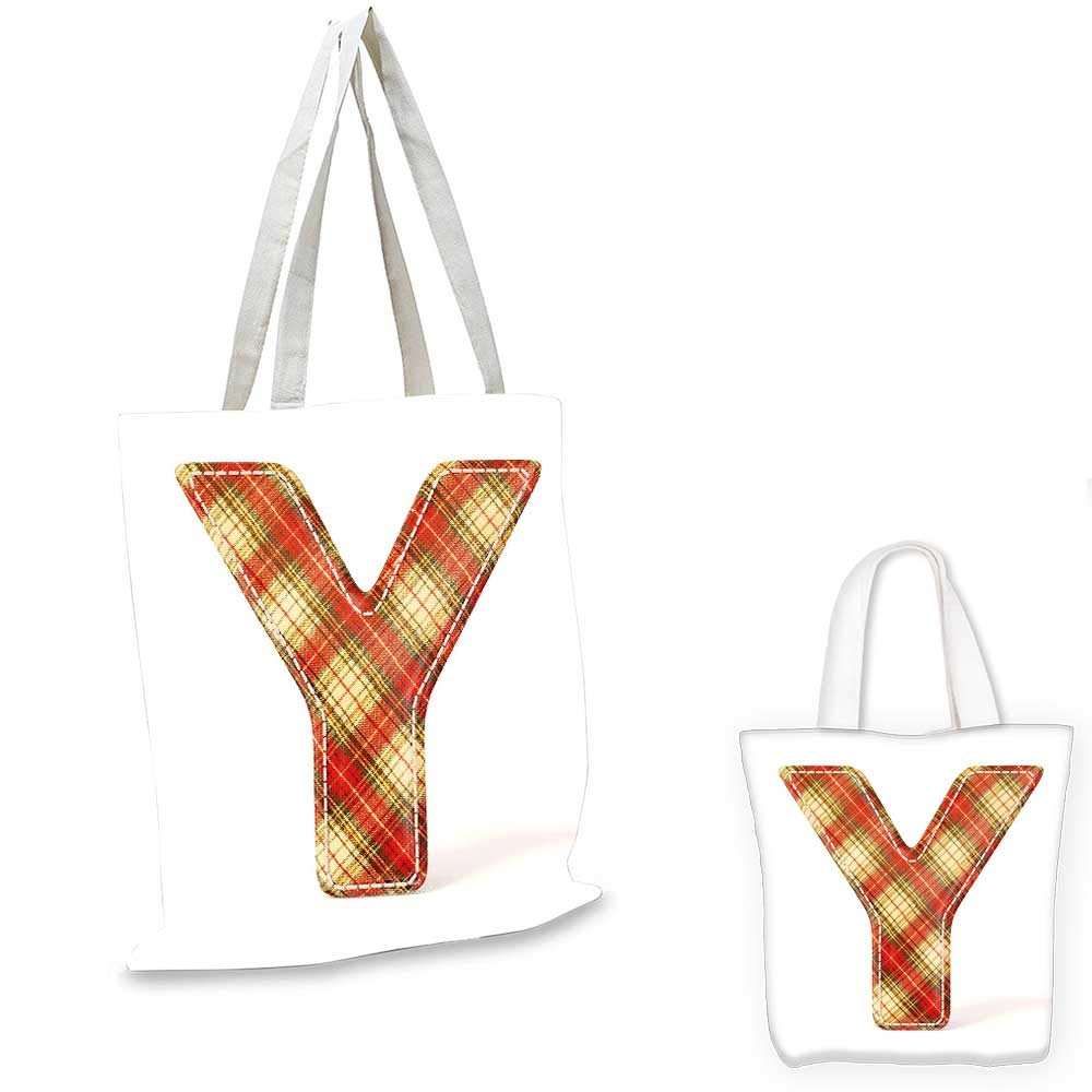16x18-13 Letter Y canvas messenger bag Casino Nightclub Inspired Alphabet Typography Entertainment Retro Y canvas beach bag Vermilion Yellow Black