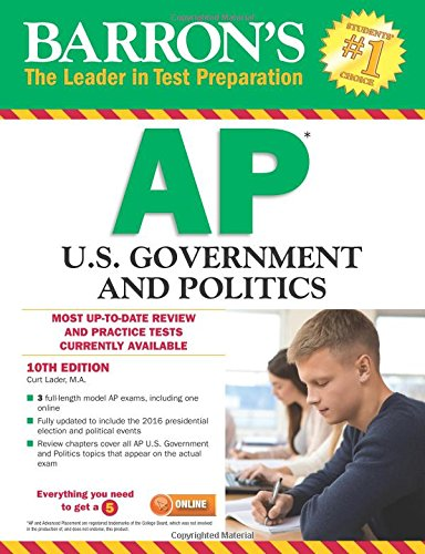 Barron's AP U.S. Government and Politics, 10th Edition cover